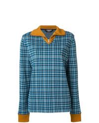 Pull à col rond écossais bleu Calvin Klein 205W39nyc