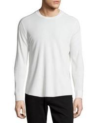 Pull à col rond en tricot blanc