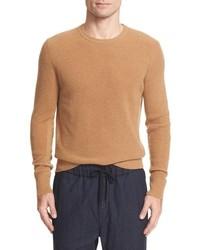 Pull à col rond en tricot marron clair