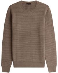 Pull à col rond en tricot marron