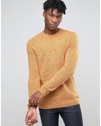 Pull à col rond en tricot moutarde Esprit