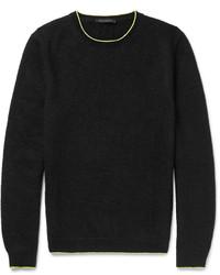 Pull à col rond en tricot noir