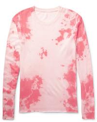 Pull à col rond en tricot rose