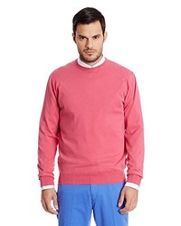 Pull à col rond fuchsia Hackett London