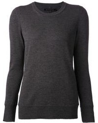 Pull a col rond gris fonce original 2137839