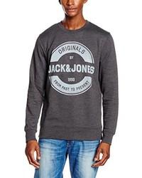 Pull à col rond gris foncé Jack & Jones