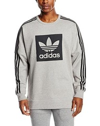 Pull à col rond gris adidas