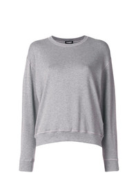 Pull à col rond gris Dsquared2