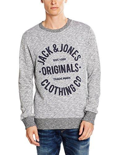 Pull à col rond gris Jack & Jones
