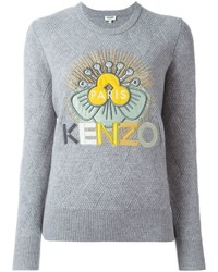 Pull à col rond gris Kenzo