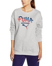 Pull à col rond gris Puma