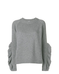 Pull à col rond gris RED Valentino