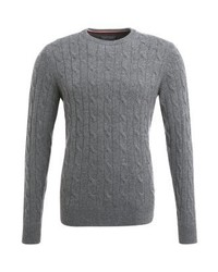 Pull à col rond gris Tommy Hilfiger