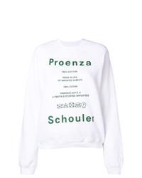 Pull à col rond imprimé blanc Proenza Schouler