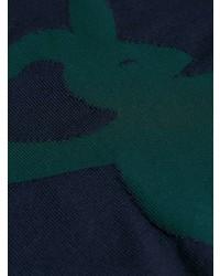 Pull à col rond imprimé bleu marine Marni