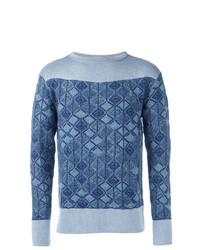 Pull à col rond imprimé bleu Vivienne Westwood