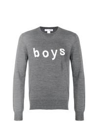 Pull à col rond imprimé gris Comme Des Garçons Shirt Boys
