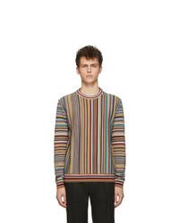 Pull à col rond imprimé multicolore Paul Smith