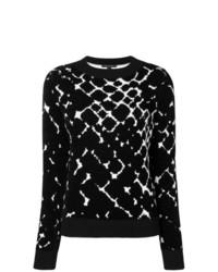 Pull à col rond imprimé noir et blanc Marc Jacobs