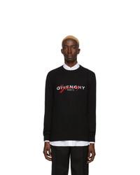Pull à col rond imprimé noir Givenchy