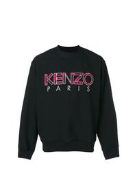 b7a7735c646 ... Pull à col rond imprimé noir Kenzo