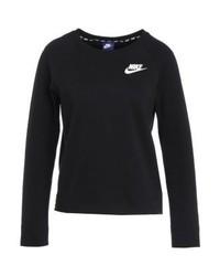 Pull à col rond imprimé noir Nike