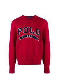 Pull à col rond imprimé rouge Polo Ralph Lauren