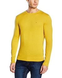 Pull à col rond jaune Calvin Klein