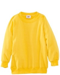 Pull à col rond jaune