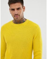 Pull à col rond jaune Pull&Bear
