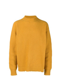 Pull à col rond moutarde MSGM