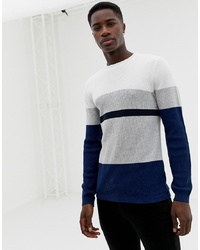 Pull à col rond multicolore Selected Homme
