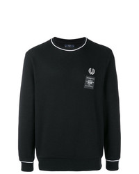 Pull à col rond noir et blanc Fred Perry X Art Comes First