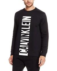 Pull à col rond noir Calvin Klein Jeans