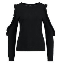 Pull à col rond noir Missguided