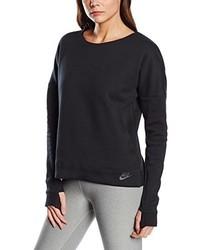 Pull à col rond noir Nike