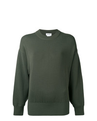 Pull à col rond olive DKNY