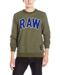 Pull à col rond olive G-Star RAW