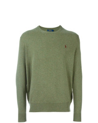 Pull à col rond olive Polo Ralph Lauren