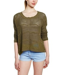 Pull à col rond olive Roxy