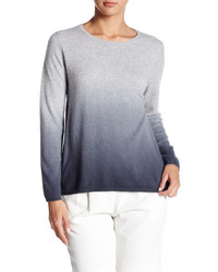 Pull à col rond ombre gris