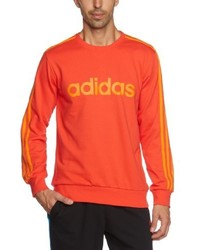 Pull à col rond orange adidas