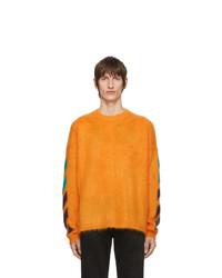 Pull à col rond orange Off-White