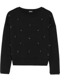 Pull à col rond orné noir DKNY