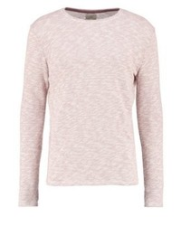 Pull à col rond rose Selected Homme