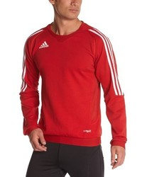 Pull à col rond rouge adidas