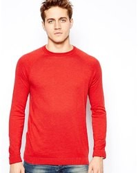 Pull à col rond rouge Asos