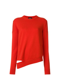 Pull à col rond rouge Calvin Klein 205W39nyc