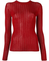 Pull à col rond rouge DKNY