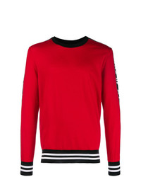 Pull à col rond rouge Dolce & Gabbana